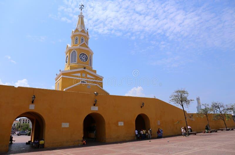 Η πύλη πύργων ρολογιών της Καρχηδόνας, Κολομβία στοκ εικόνα