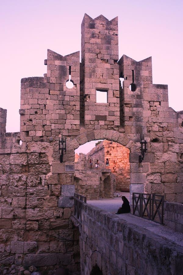 Η πύλη του Saint-Paul της παλαιάς πόλης Ρόδος, Ελλάδα στοκ φωτογραφία με δικαίωμα ελεύθερης χρήσης