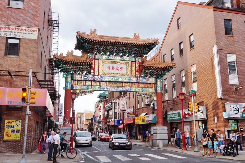 Η πύλη φιλίας στη Φιλαδέλφεια Chinatown στοκ εικόνες