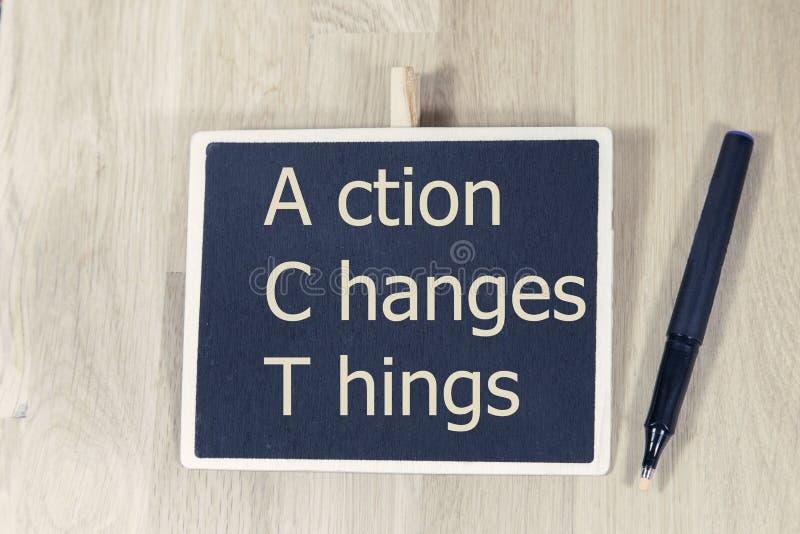 Η δράση αλλάζει τα πράγματα στοκ φωτογραφίες
