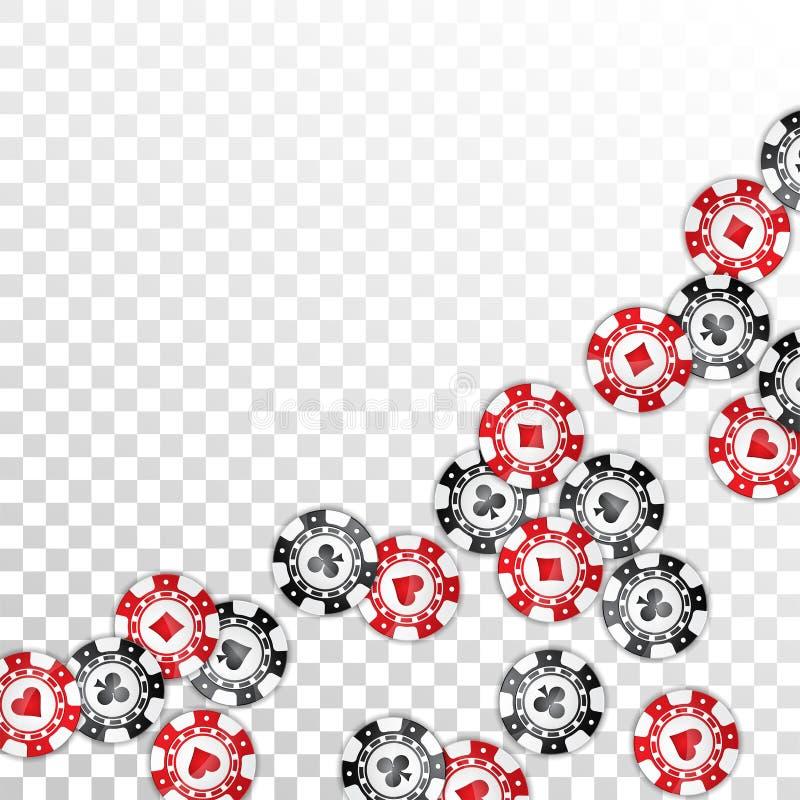 Η ρεαλιστική χαρτοπαικτική λέσχη πελεκά την απεικόνιση στο διαφανές υπόβαθρο Απομονωμένη πτώση συμβολικός Διανυσματικό σχέδιο ένν απεικόνιση αποθεμάτων