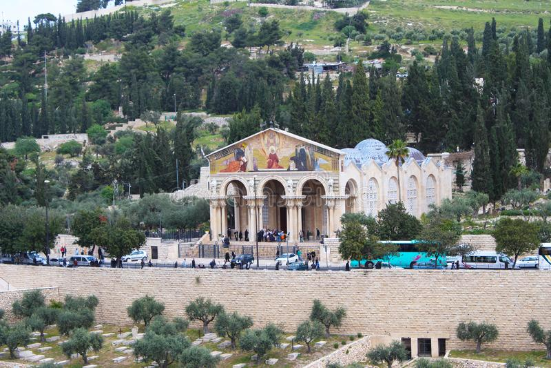 Η Ρωμαιοκαθολική εκκλησία όλων των εθνών, η εκκλησία ή η βασιλική της αγωνίας, Ιερουσαλήμ στοκ εικόνες με δικαίωμα ελεύθερης χρήσης