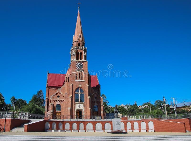 Η Ρωμαιοκαθολική εκκλησία σε Cacica, Ρουμανία στοκ φωτογραφία με δικαίωμα ελεύθερης χρήσης