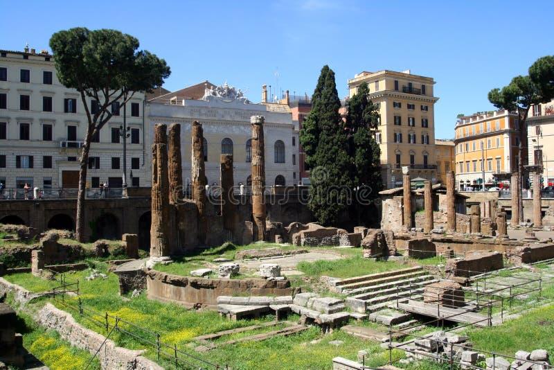 Η Ρώμη Ιταλία η αρχαιολογία αρχαιότητας καταφυγίων γατών Torre Αργεντινή του θεάτρου του Πομπηίου διατηρεί την αιώνια πόλη στοκ φωτογραφία με δικαίωμα ελεύθερης χρήσης