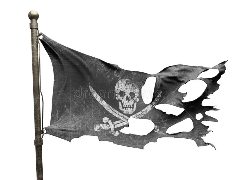 η σημαία έσχισε σχισμένος διανυσματική απεικόνιση