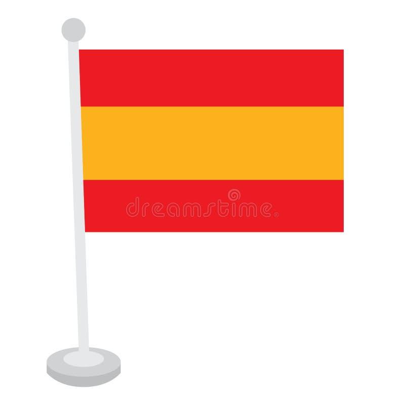η σημαία απομόνωσε τα ισπα&n ελεύθερη απεικόνιση δικαιώματος
