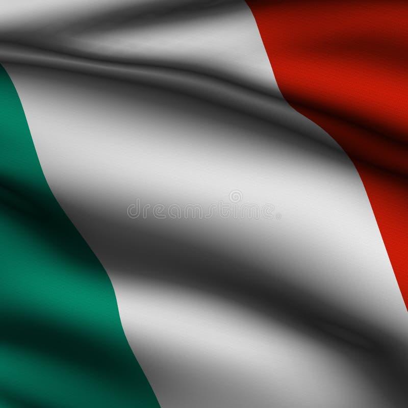 η σημαία ιταλικά κατήστησε τετραγωνικός ελεύθερη απεικόνιση δικαιώματος