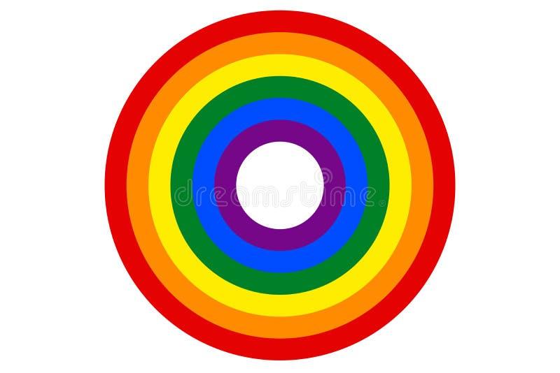 Η σημαία ουράνιων τόξων LGBT είναι το διάνυσμα στόχων ελεύθερη απεικόνιση δικαιώματος