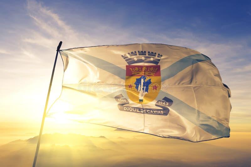 Η σημαία της Βραζιλίας κυματίζει στην κορυφή της ομίχλη στοκ φωτογραφία με δικαίωμα ελεύθερης χρήσης