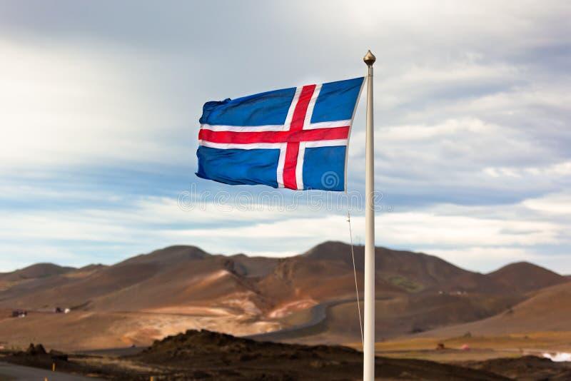Η σημαία της Ισλανδίας στοκ φωτογραφία με δικαίωμα ελεύθερης χρήσης