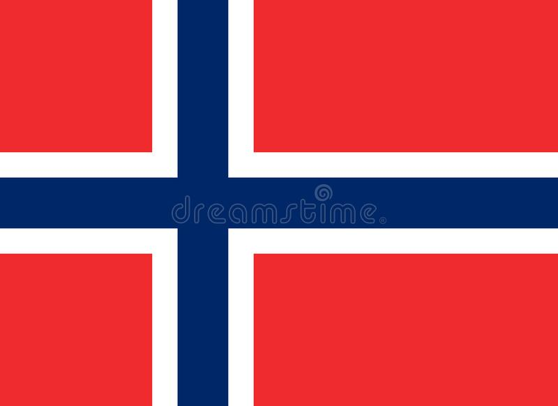 Η σημαία του βασίλειου της Νορβηγίας, είναι μια κυρίαρχη και ενωτική μοναρχία της Σκανδιναβικής χερσονήσου επίσης corel σύρετε το διανυσματική απεικόνιση
