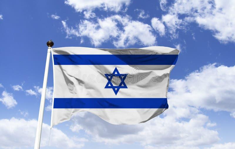 Η σημαία του Ισραήλ συντίθεται από το αστέρι του Δαυίδ στοκ φωτογραφίες