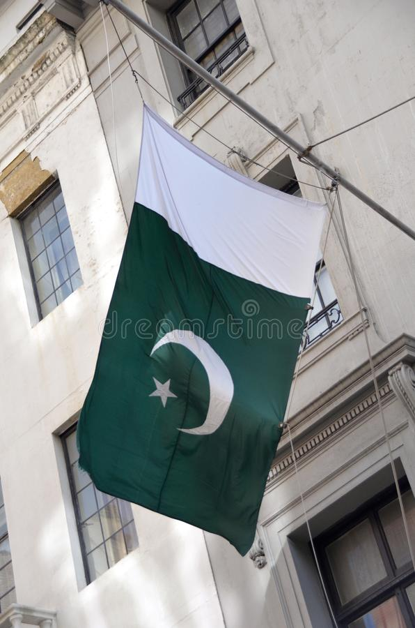 Σημαία του Πακιστάν στοκ φωτογραφίες