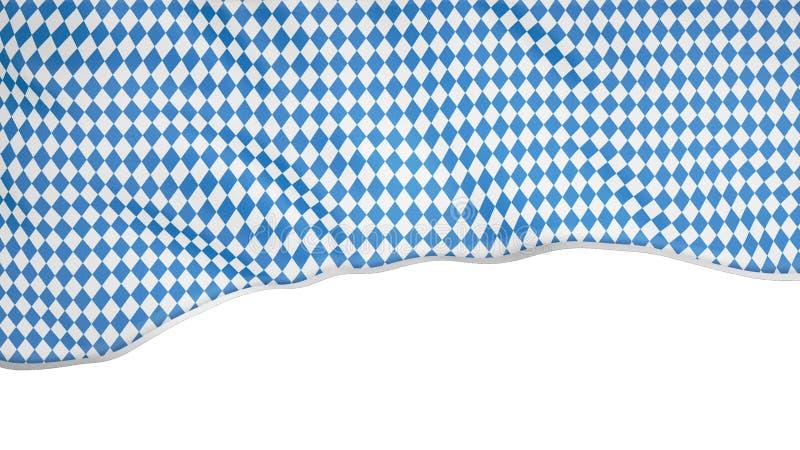Η σημαία των πιό oktoberfest κυματισμών στον αέρα εκ μέρους της οθόνης, η ζωτικότητα εθνικού του παραδοσιακού στοκ εικόνες με δικαίωμα ελεύθερης χρήσης