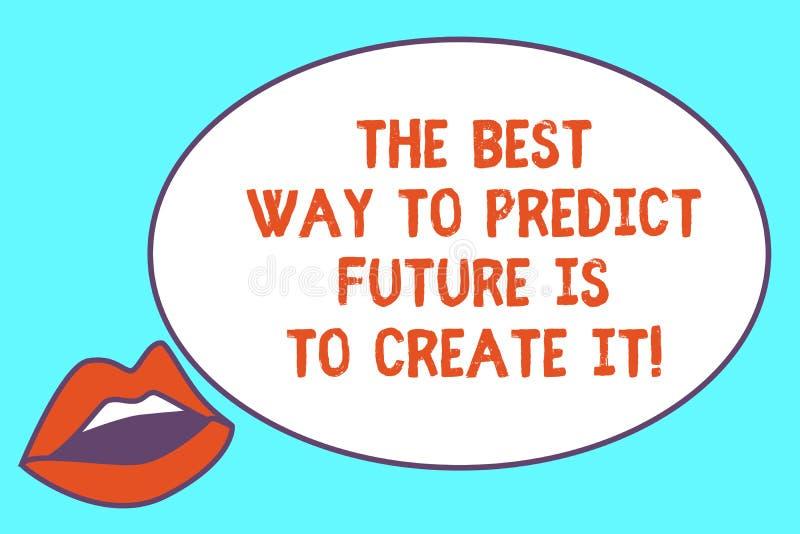 Η σημείωση γραψίματος που παρουσιάζει καλύτερο τρόπο να προβλεφθεί το μέλλον είναι να δημιουργηθεί Επιχειρησιακή φωτογραφία που ε απεικόνιση αποθεμάτων