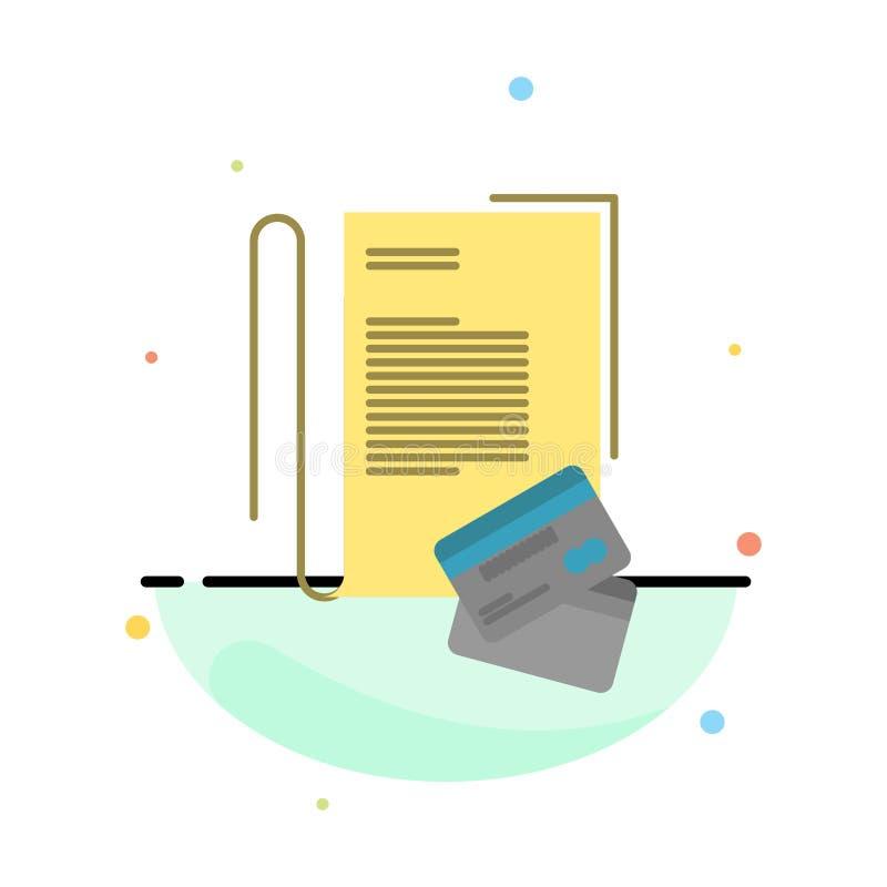 Η σημείωση, σημειωματάριο, κάρτες, πίστωση, αφαιρεί το επίπεδο πρότυπο εικονιδίων χρώματος ελεύθερη απεικόνιση δικαιώματος