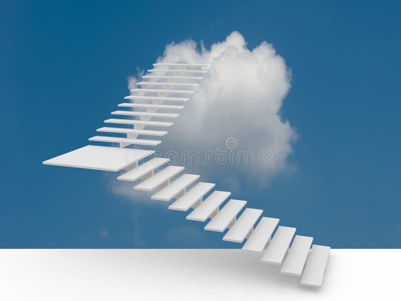 Η σκάλα επιτυχίας τρισδιάστατη απεικόνιση στοκ εικόνες