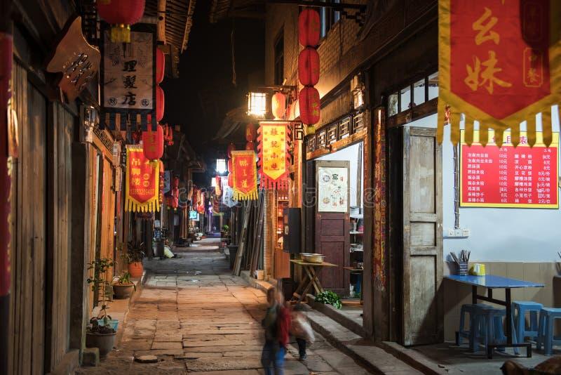 Η σκηνή νύχτας της αρχαίας πόλης στοκ φωτογραφίες με δικαίωμα ελεύθερης χρήσης