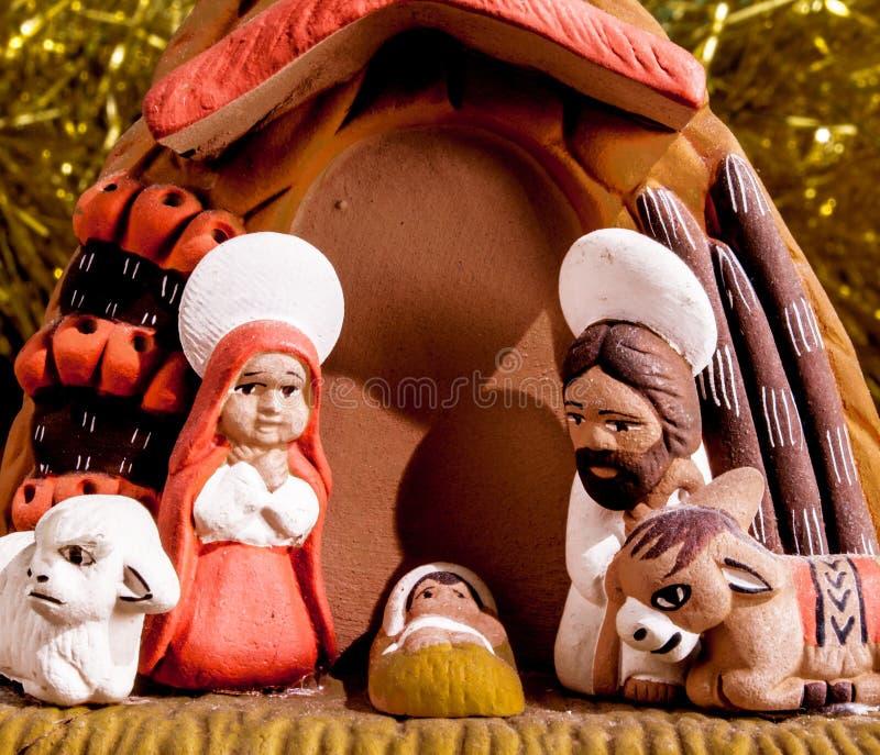 Η σκηνή nativity στοκ εικόνα με δικαίωμα ελεύθερης χρήσης
