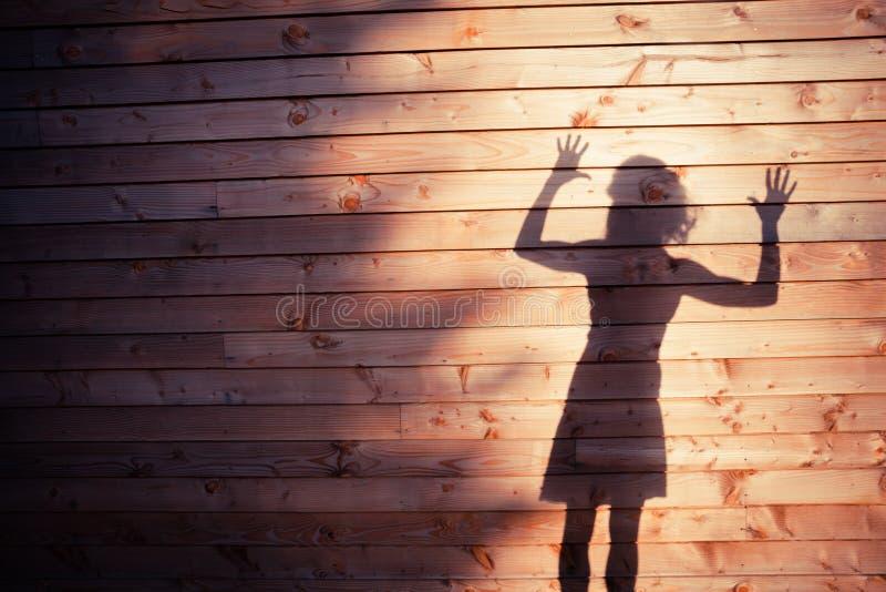 Η σκιά μιας νέας γυναίκας στοκ φωτογραφία με δικαίωμα ελεύθερης χρήσης