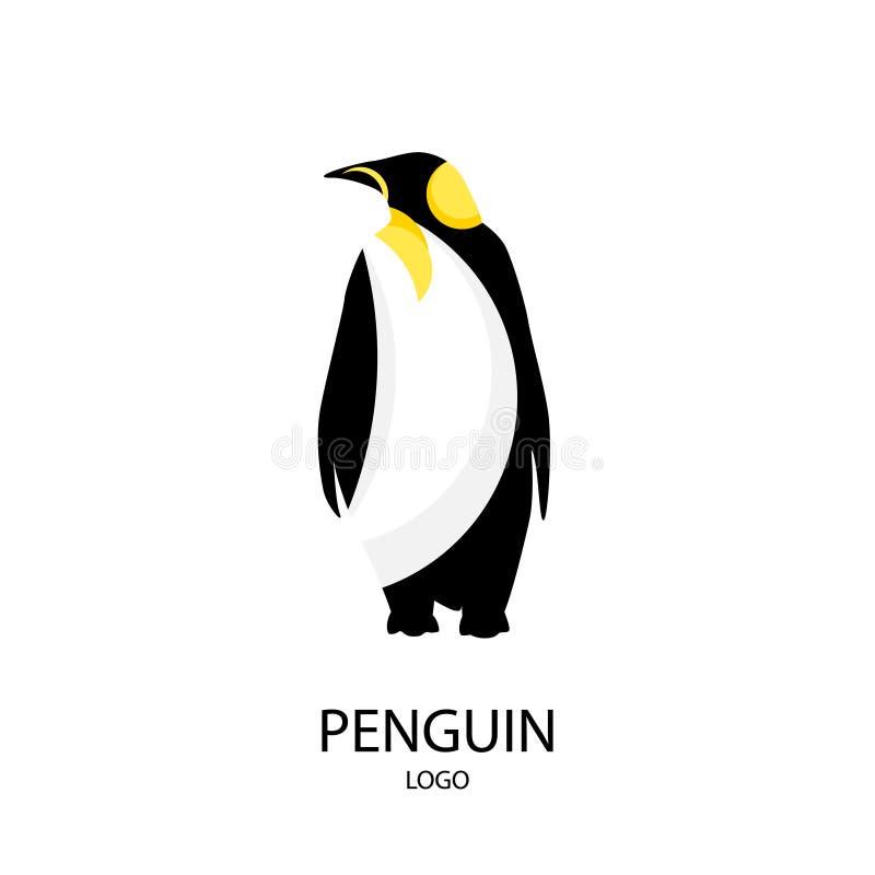 Η σκιαγραφία του penguin ΛΟΓΟΤΥΠΟ Επίπεδο ύφος επίσης corel σύρετε το διάνυσμα απεικόνισης ελεύθερη απεικόνιση δικαιώματος
