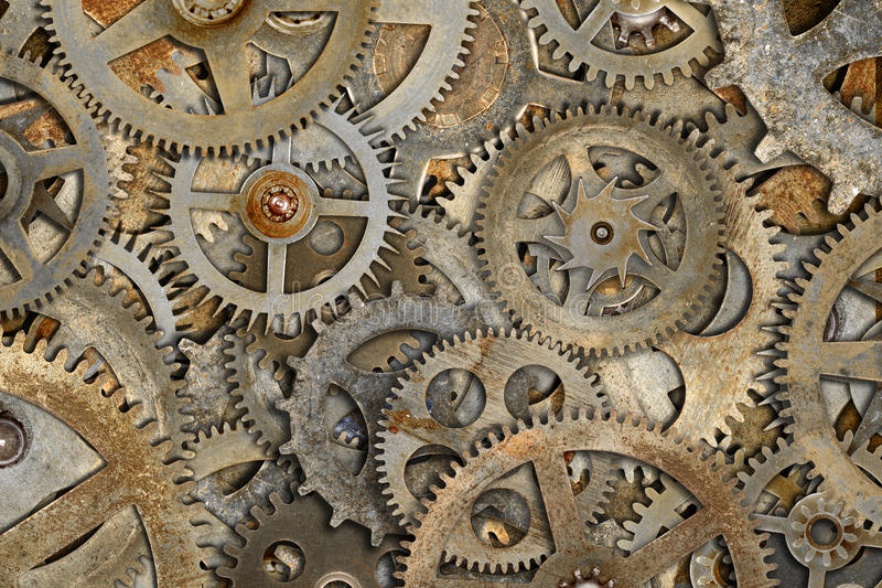 Η σκουριασμένη μηχανή το υπόβαθρο στοκ φωτογραφία με δικαίωμα ελεύθερης χρήσης