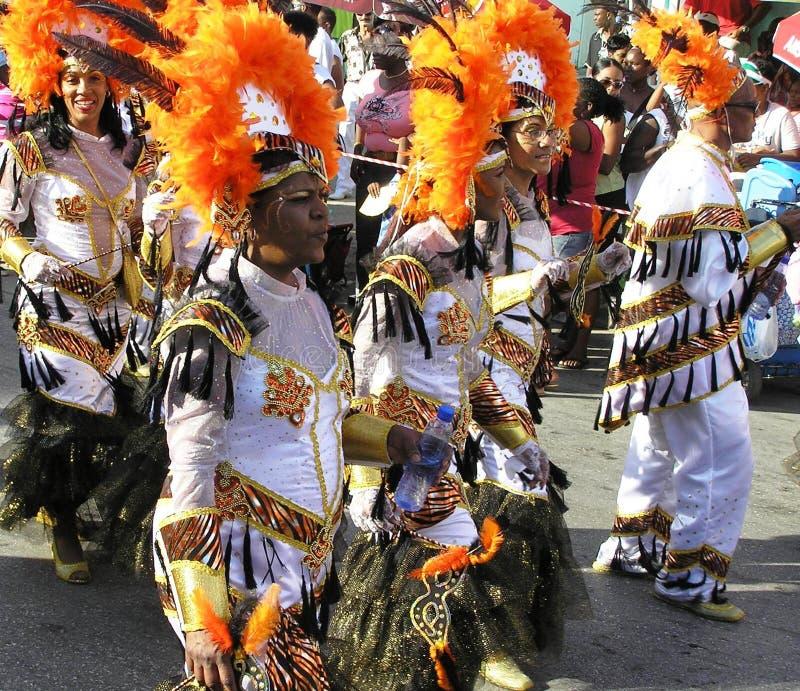 Η σοβαρή πομπή στα κοστούμια καρναβαλιού 3 Φεβρουαρίου 2008 στοκ εικόνες