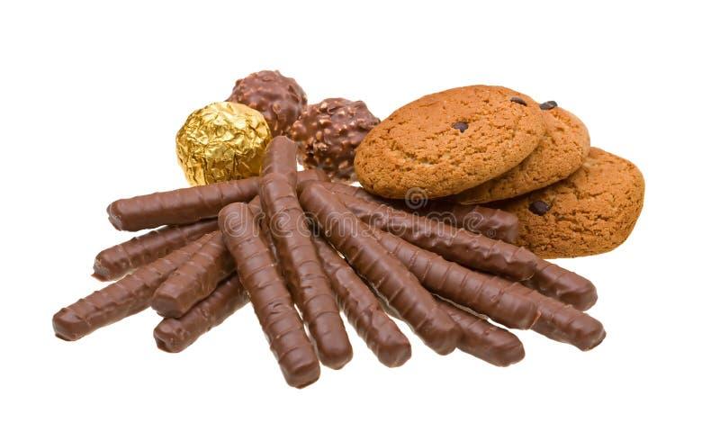 Download η σοκολάτα μπισκότων απομ στοκ εικόνα. εικόνα από θερμίδες - 13186401
