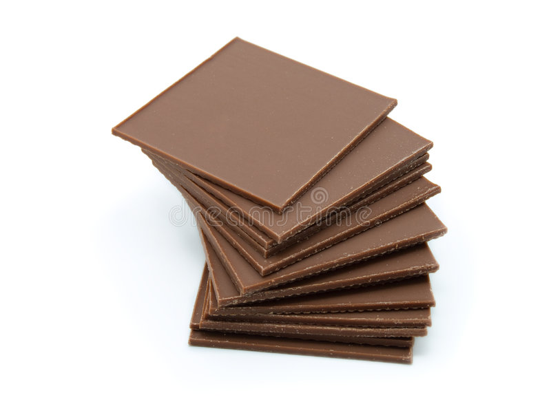 η σοκολάτα ράβδων απομόνω&si στοκ εικόνες
