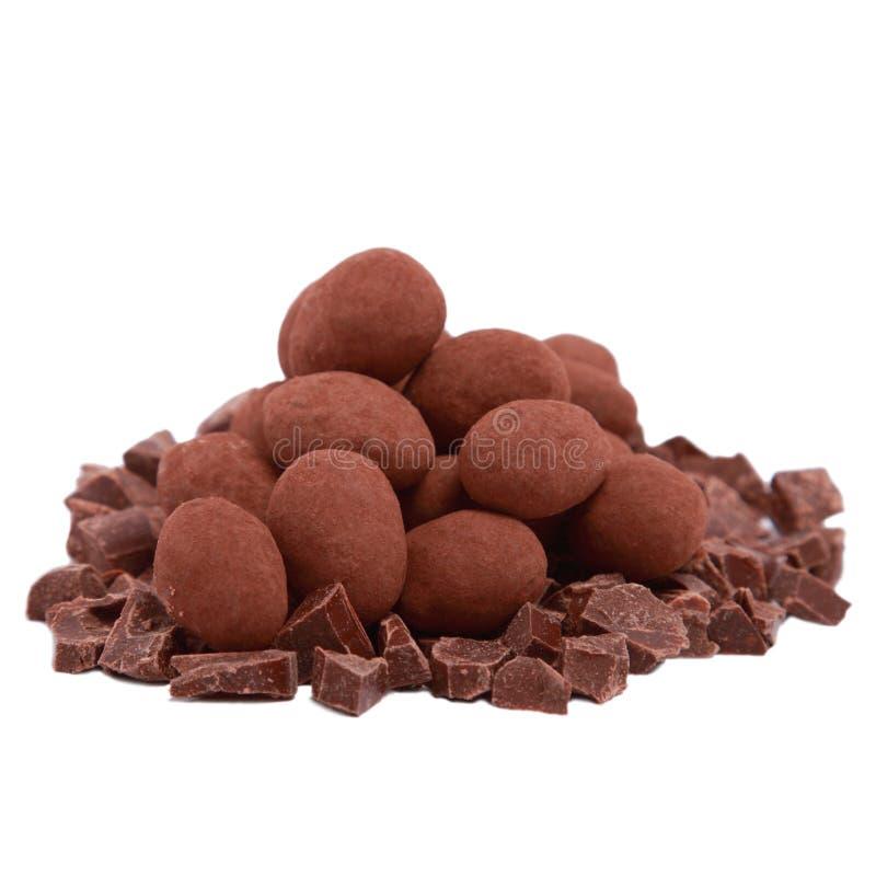 η σοκολάτα τεμαχίζει την &t στοκ φωτογραφίες