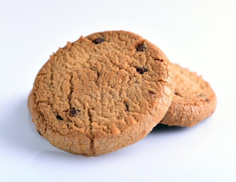η σοκολάτα μπισκότων απομόνωσε το λευκό στοκ εικόνες