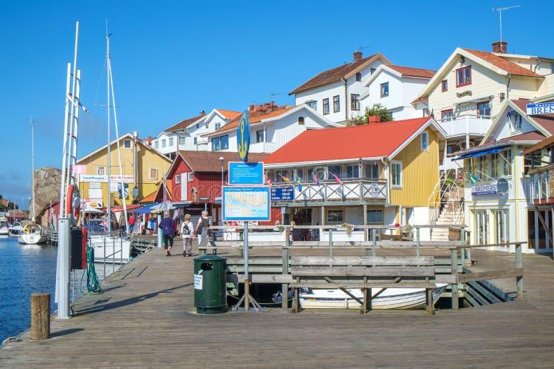 Η σουηδική δυτική ακτή στοκ εικόνες