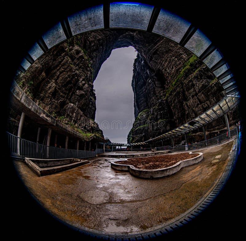 Η σπηλιά του βουνού Tianmen είναι όπως το νησί της Ταϊβάν στοκ φωτογραφίες με δικαίωμα ελεύθερης χρήσης