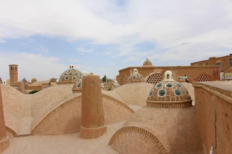 Η στέγη των λουτρών του Ahmad εμιρών σουλτάνων σε Kashan, Ιράν στοκ φωτογραφία με δικαίωμα ελεύθερης χρήσης