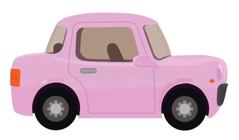 η συγκομιδή αυτοκινήτων ανασκόπησης περιέλαβε εύκολα έξω το ροζ μονοπατιών στο διάνυσμα διανυσματική απεικόνιση