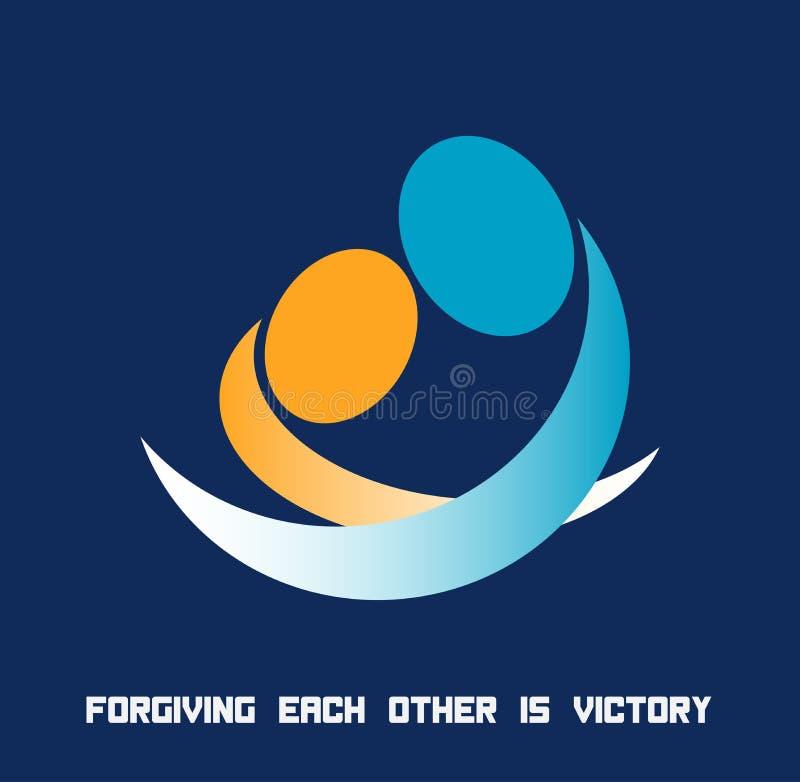 Η συγχώρεση μεταξύ τους είναι νίκη ελεύθερη απεικόνιση δικαιώματος