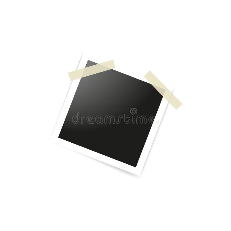 Η συλλογή των κενών πλαισίων φωτογραφιών στην ταινία αγωγών στο άσπρο υπόβαθρο Πρότυπα προτύπων για το σχέδιο r ελεύθερη απεικόνιση δικαιώματος