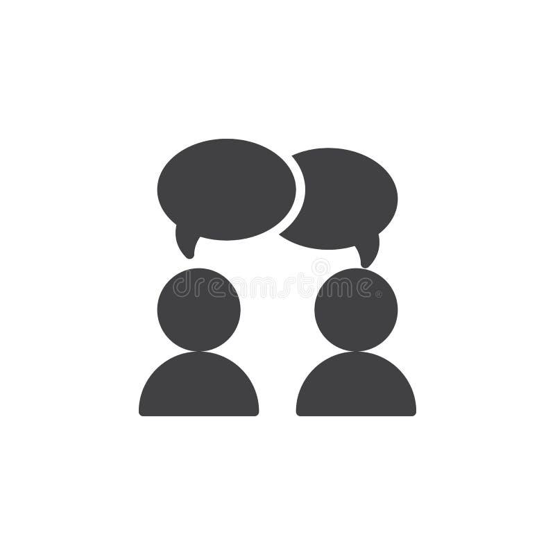 Η συνεργασία, διάνυσμα εικονιδίων συνομιλίας, γέμισε το επίπεδο σημάδι, στερεό εικονόγραμμα που απομονώθηκε στο λευκό διανυσματική απεικόνιση