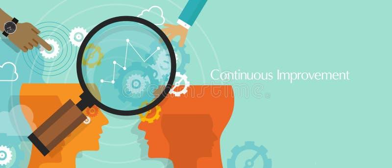 Η συνεχής βελτίωση η επιχειρησιακή έννοια βελτιώνεται διανυσματική απεικόνιση