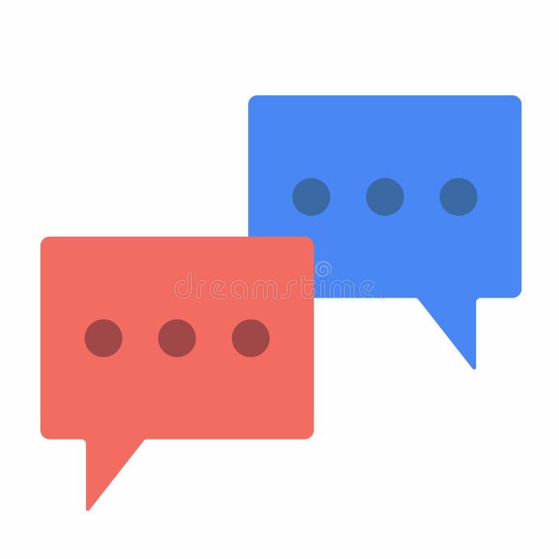 Η συνομιλία βράζει οριζόντια desing καθορισμένη διανυσματική απεικόνιση σημαδιών εικονιδίων απεικόνιση αποθεμάτων