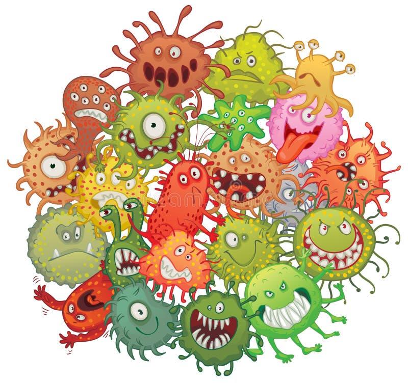 Η συσσώρευση των βακτηριδίων ελεύθερη απεικόνιση δικαιώματος