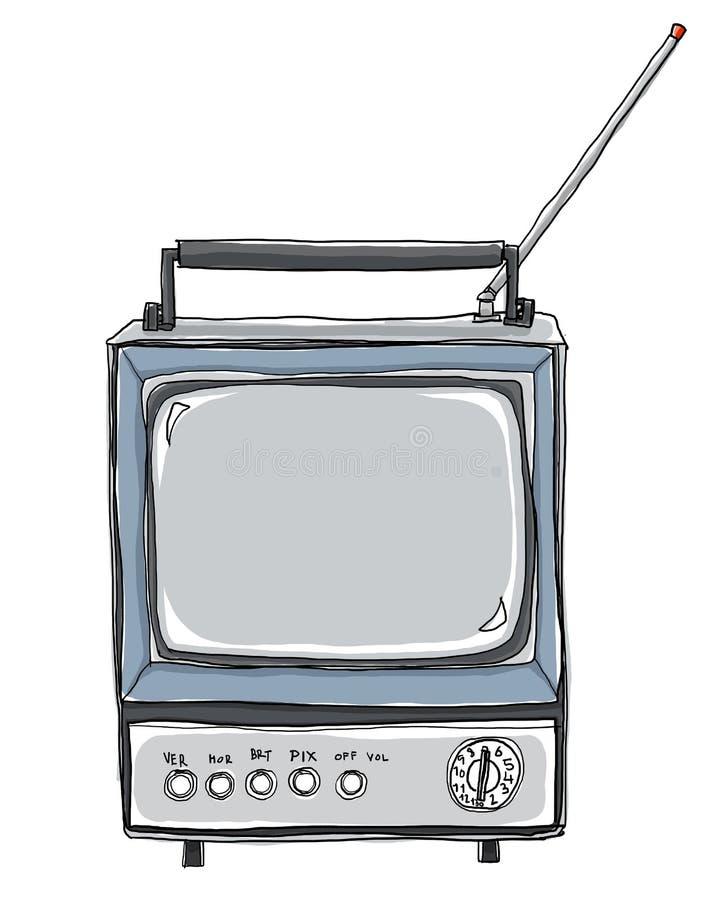 η συλλογή επιμελείται αναδρομικό απλό στο διανυσματικό τρύγο TV ελεύθερη απεικόνιση δικαιώματος