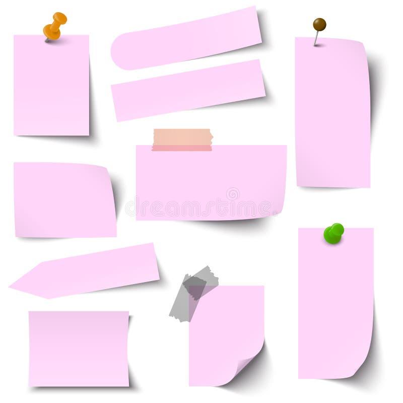 Η συλλογή του εγγράφου σημειώνει το ροζ ελεύθερη απεικόνιση δικαιώματος