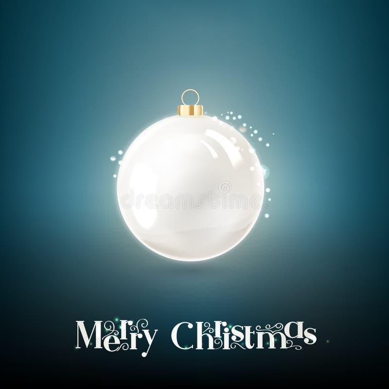 Η σφαίρα Χριστουγέννων διανυσματική απεικόνιση