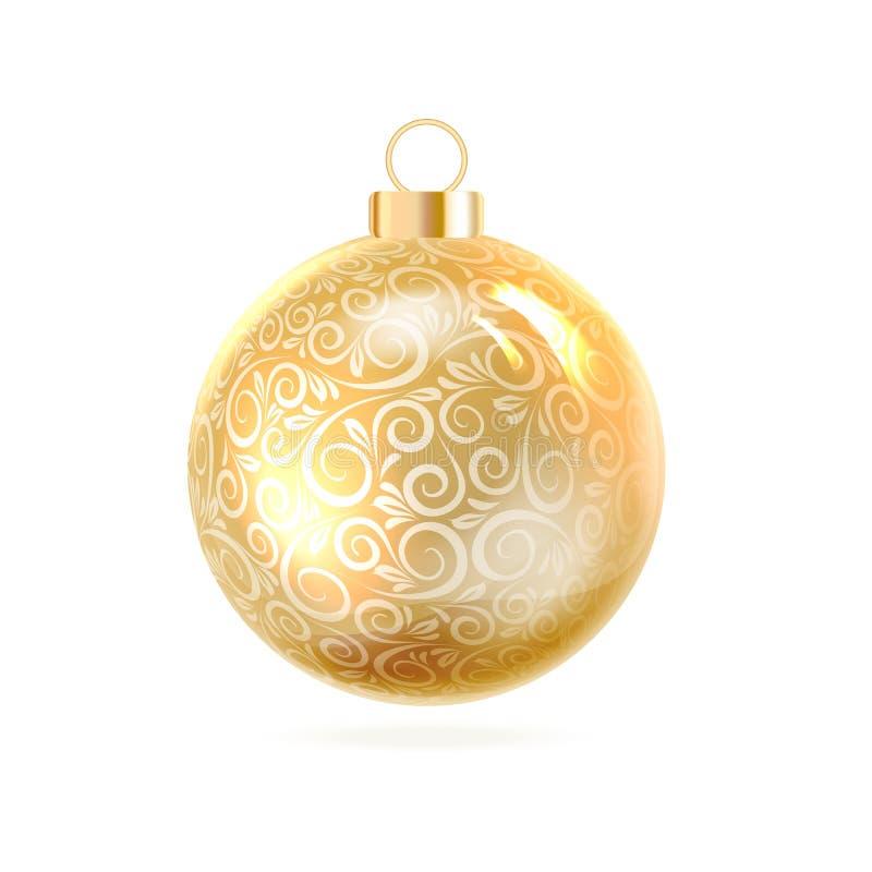 Η σφαίρα Χριστουγέννων ελεύθερη απεικόνιση δικαιώματος