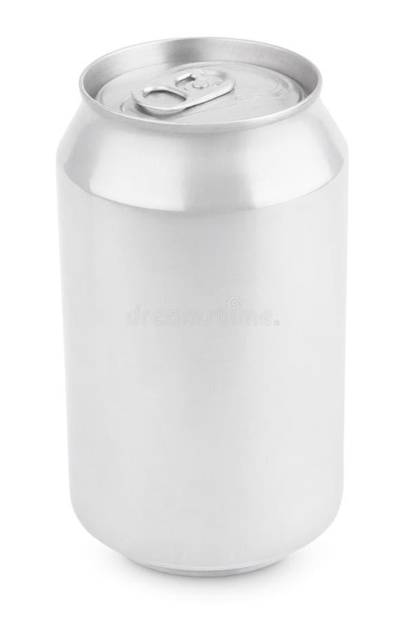 Η σόδα αργιλίου μπορεί απομονωμένος στο λευκό στοκ εικόνες με δικαίωμα ελεύθερης χρήσης