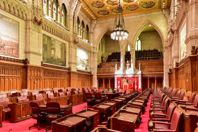 Η Σύγκλητος του κτηρίου του Κοινοβουλίου - Οττάβα, Καναδάς στοκ φωτογραφίες