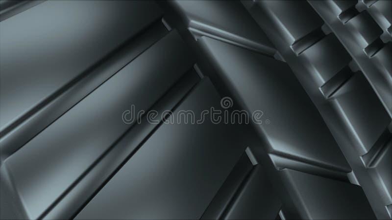 Η σύγχρονη και λαμπρή επιφάνεια ροδών ροδών αυτοκινήτων μαύρη, τρισδιάστατος υπολογιστής απόδοσης παρήγαγε το σκηνικό στοκ φωτογραφία με δικαίωμα ελεύθερης χρήσης