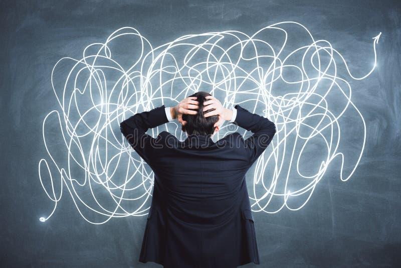 Η σύγχυση και σκέφτεται την έννοια στοκ φωτογραφία με δικαίωμα ελεύθερης χρήσης