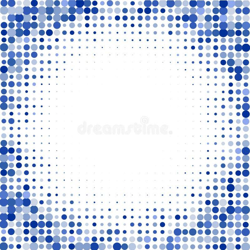 Η σύνθεση από τα μπλε σημεία στο άσπρο υπόβαθρο διανυσματική απεικόνιση